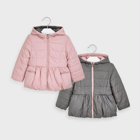 Mayoral(マヨラル)キッズ シンプル切り替えコート/ピンク