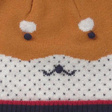 Mayoral(マヨラル)ベビー 柴犬ニット帽+ボーダーマフラーセット