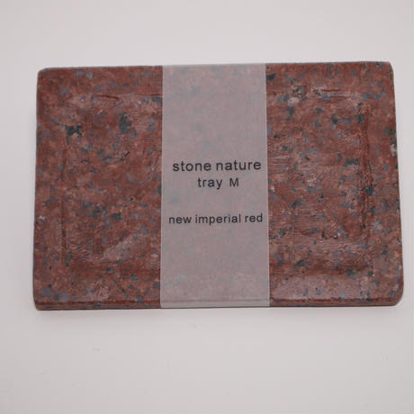 stone nature tray M new inperi red