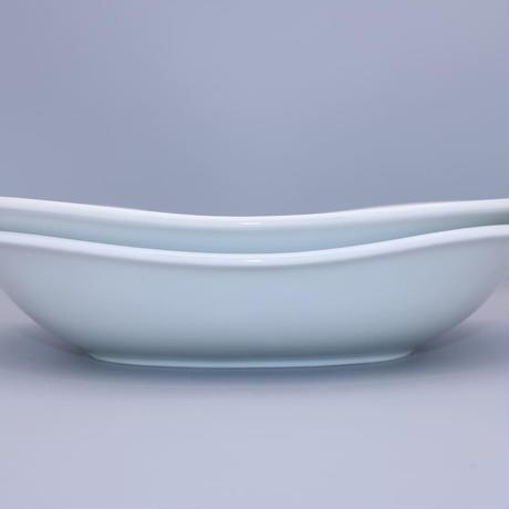 砥部焼 だ円鉢(大) 千山窯 唐草