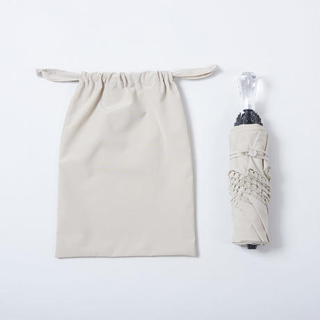K04《折傘》 晴雨兼用フリンジ50cm/クリスタル