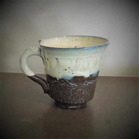 乳濁釉マグカップ《S飲2u1》
