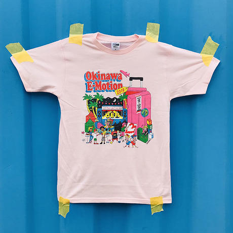 Okinawa E-Motion × Ms.Little Chico オリジナルTシャツ NO.1/ ピンク