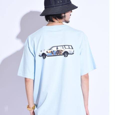 """Oh!theGuilt × WESO WIM  008 / """"CROWN""""S/S T-SHIRT(LIGHT BLUE)"""