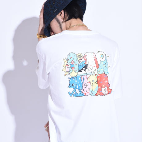 """Oh!theGuilt × WESO WIM  007/ """"POP GROUP""""S/S T-SHIRT( WHITE)"""