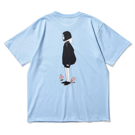 """Oh!theGuilt × WESO WIM  009 / """"ABOUT A GIRL""""S/S T-SHIRT( LIGHT BLUE)"""