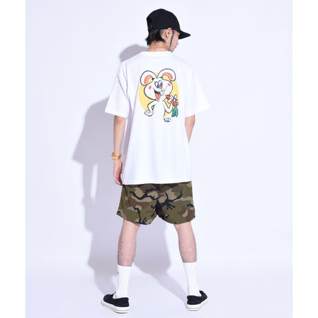 """Oh!theGuilt×W.C Johnny001 / """"W.C Bunny""""S/S T-SHIRT (WHITE)"""