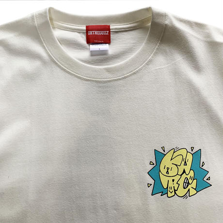 """Oh!theGuilt × WESO WIM  009 / """"ABOUT A GIRL""""S/S T-SHIRT( VANILLA WHITE)"""