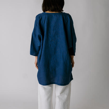 [さっくりシャツ]リネン / 藍染