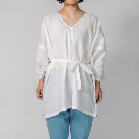 [さっくりシャツ]リネン / ホワイト