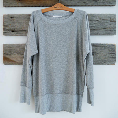 SUNDAY IN BED sweater LENNY frottee graumelange