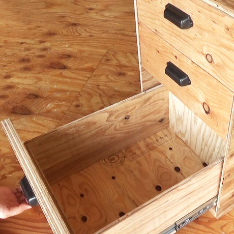 【PDF】DIY製作図面 Plywood chest