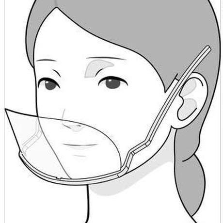 [14]サラダ館明大寺店 透明衛生マスク マスクリア ピコ5色入り