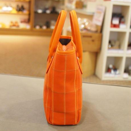 【07】野球のグローブの残革を使って作ったトートバッグ(小)