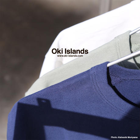 S/S Brushed Pocket Tee / Oki islands モスグレー(ME)