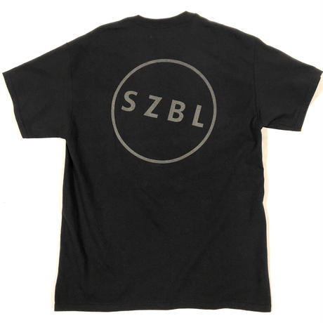 S Z B L POCKET TEE( BLACK × REFRECTOR )