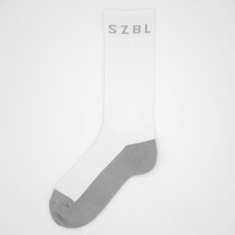 S Z B L SOCKS(WHITE×GREY)