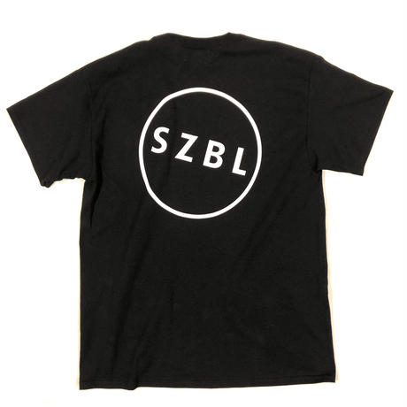 S Z B L POCKET TEE( BLACK × WHITE )