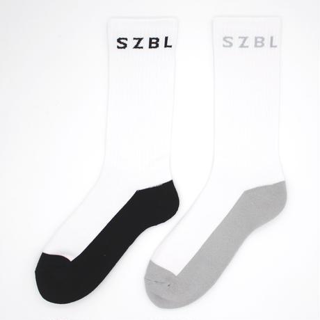 S Z B L SOCKS(WHITE×BLACK)