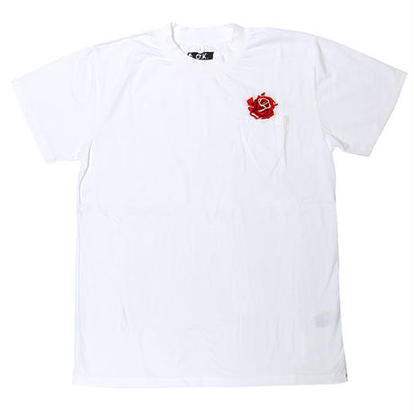 【再入荷】OK142-004SS 【OUTLET PRICE】ROSE ポケTEE(手刺繍)
