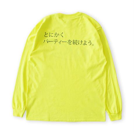 【O.K. & とにかくパーティー ロゴ L/S TEE】
