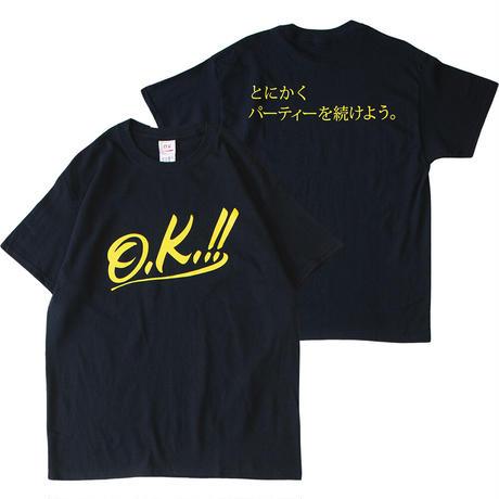 【O.K. & とにかくパーティー ロゴ S/S TEE】