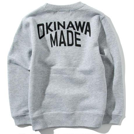 OKINAWAMADEスウェットシャツ(グレー)  キッズサイズ