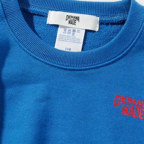 OKINAWAMADEスウェットシャツ(ブルー)  キッズサイズ