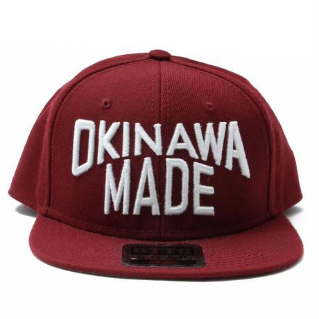 OKINAWAMADE™スナップバックキャップ(ワイン)