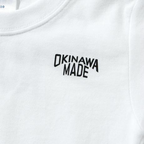 OKINAWAMADEスタンダードTシャツ(ホワイト)  キッズサイズ