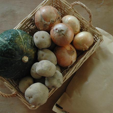2018オータムスペシャル  生産者限定・北海道産の有機JAS秋野菜と2017新米 生産者限定「今摺米」特別栽培 北海道南幌産(2kg)の詰め合せ