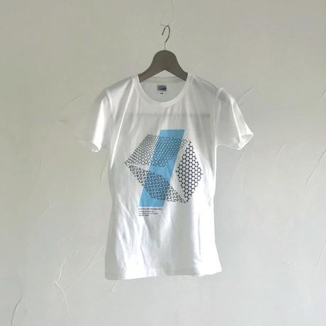 グラフィックTシャツ(伊勢型紙文様)  WHITE【ネコポス限定 送料無料・税込】 (代引き不可)