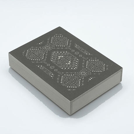 伊勢型紙の文庫箱 【八角縁起-fortune octagon-】薄墨-gray-
