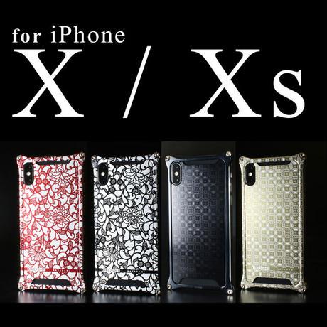 iPhone X/ Xs  アルミ削り出しケース【金運七宝 Shippou】BLACK 【送料無料 税込】