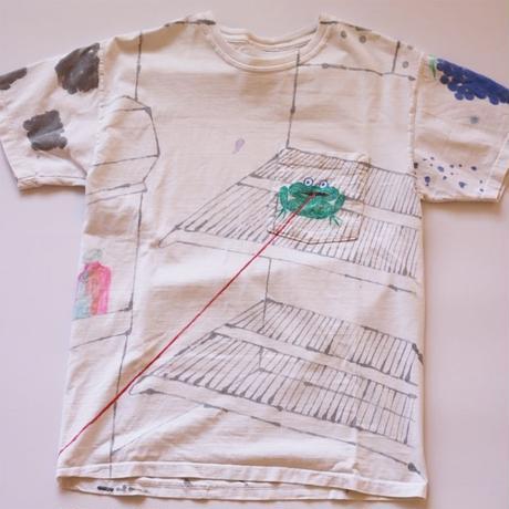 """Jefferey Kriksciun""  handmade T-shirt frog"