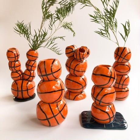 "Rebu Ceramics ""basketball vase""❶"