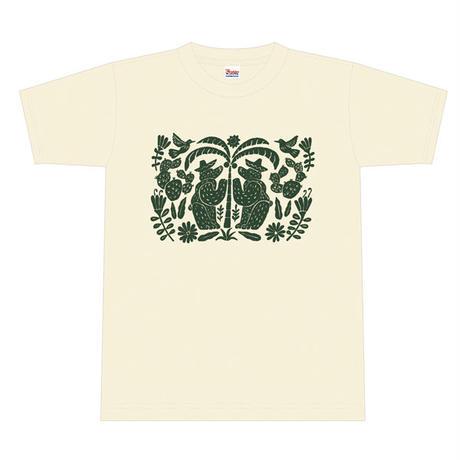 """okataoka T-shirt """"BEAR / HELLO MEXICO """""""