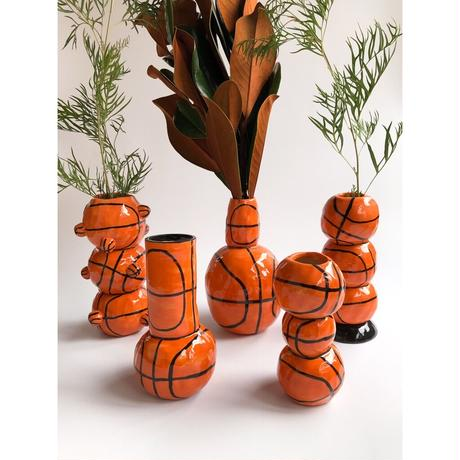 "Rebu Ceramics ""basketball vase""❹"