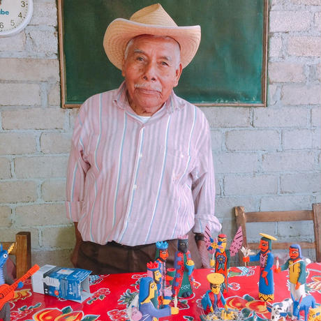 """Mexico wood carving   """"Saint"""""""