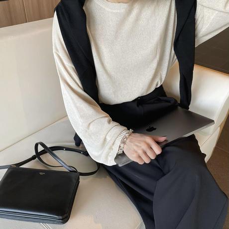 【5月中旬入荷予定】リネンブレンドニットbeige