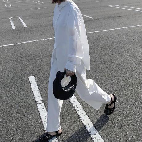 ワイドタックパンツ white(レギュラー,ロングレングス)