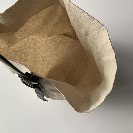 コットンリネンショルダーバッグ