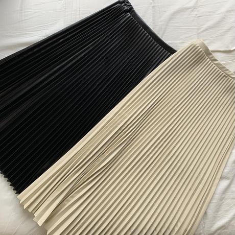1月下旬お届け予定 フェイクレザープリーツスカートblack (o_a_bottoms-001-BK)