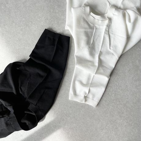 サマーニットwhite,black