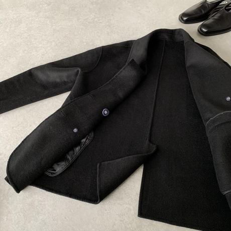 ハンドメイドウールジャケットblack