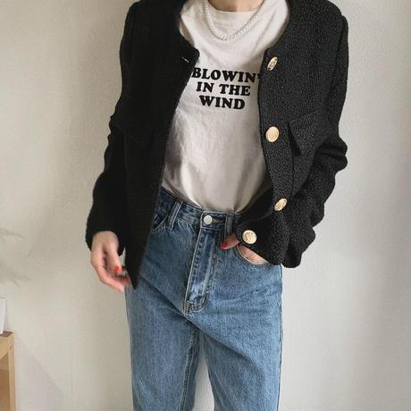 ツイードジャケットblack
