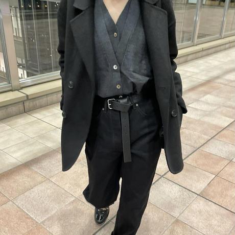 【10月中旬お届け予定】ハンドメイドウールジャケットblack