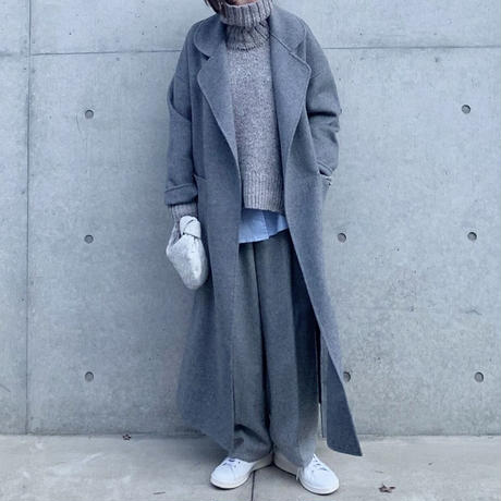 【10月下旬お届け予定】ライトメルトンウールコート