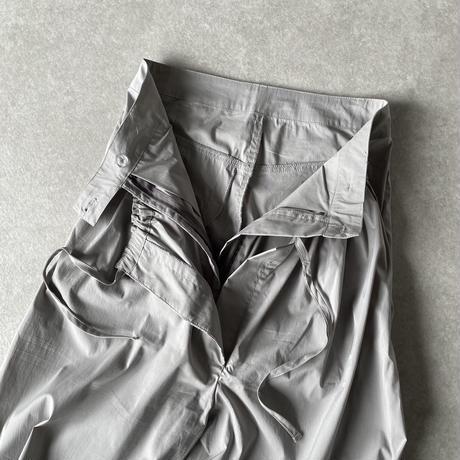 レイヤードコットンナイロンパンツblack,gray