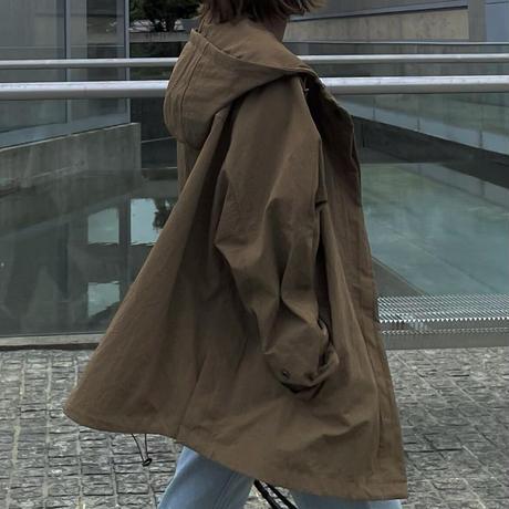 【10月初旬入荷予定】フーデッドブルゾンblack,camel